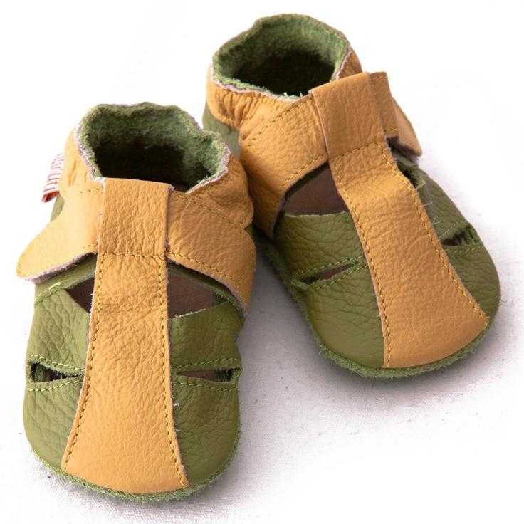 Liliputi® Soft Baby Sandals - Atacama Green   #soft #liliputi #babysandal