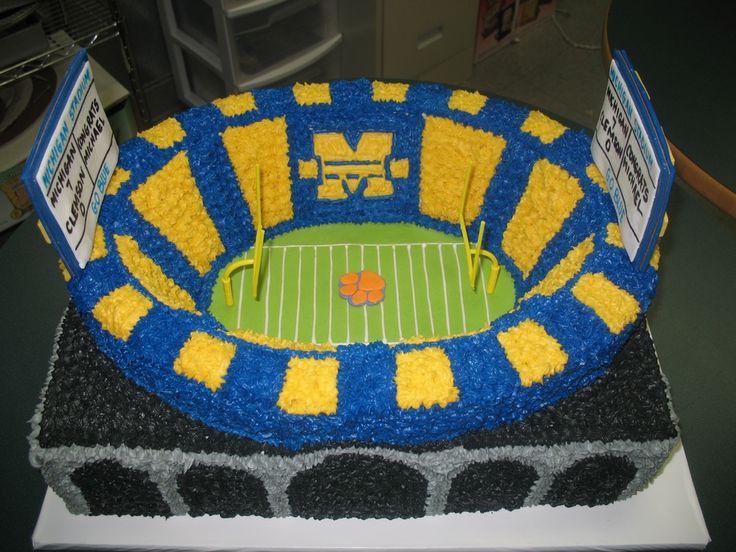 | birthday cake Pinterest | ideas football michigan  Party