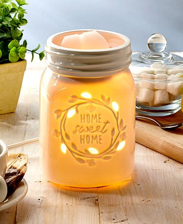 """Create a relaxing atmosphere in your home with a Decorative Fragrance Warmer or Wax Melts. The Tabletop Fragrance Warmer (5"""" dia. x 3-1/4""""H) and Plug-In Fragran"""