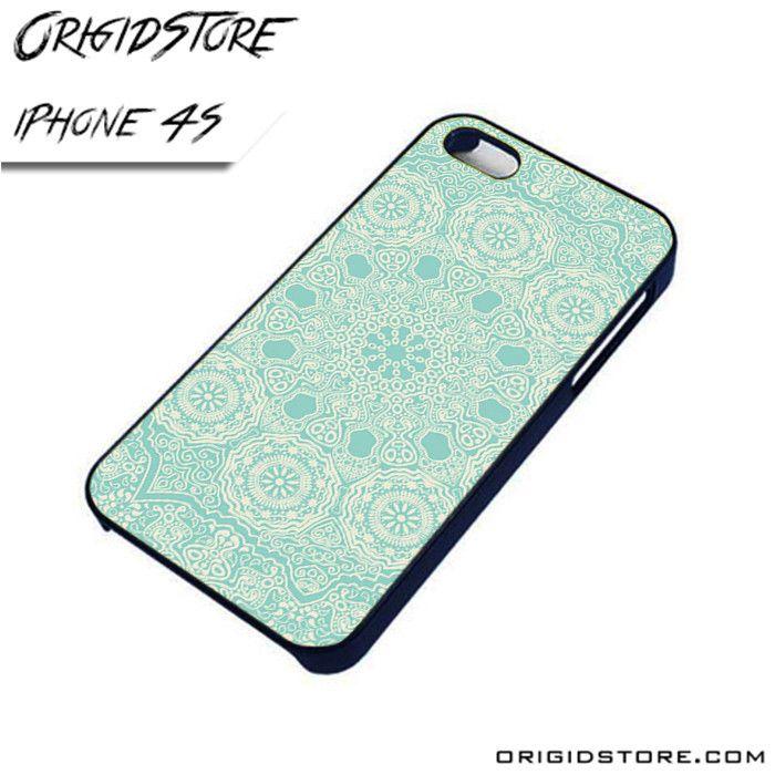 Mandala Blue Light Case For Iphone 4/4S Case