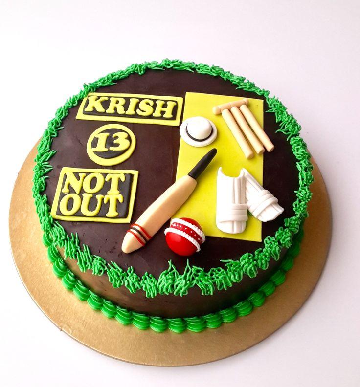 Cricket themed cake Howzthat????