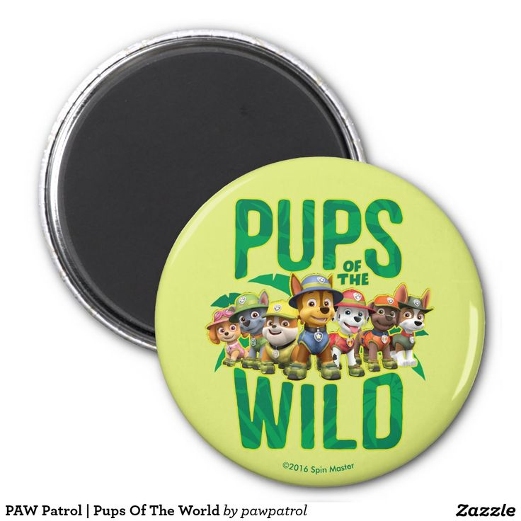 PAW Patrol | Pups Of The World. Puppy, dog lover. Regalos, Gifts. #imanes #magnets