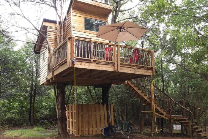 feel right at home. Nightly rates for cabins start as low as $135 night. 8. Robbers Cave State Park Cabins or