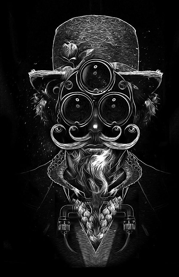 An awesome series of portrait illustrations called FANTASMAGORIK® COSMIK FACES by the french designer Nicolas Obery. Each portrait is super rad and full of details that together make a great composition. Check it out!