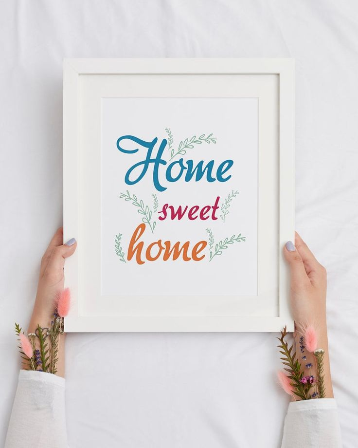Home Sweet Home Sign, Living room wall art, Simple Typography Print, Above couch decor, Home Decor Print, Family Quote, New home gift
