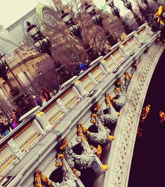 Side of the Pont Alexandre Bridge. A baeutiful part of Paris. Taken by Wendy Bennett. www.instagram.com/wendybennettartist