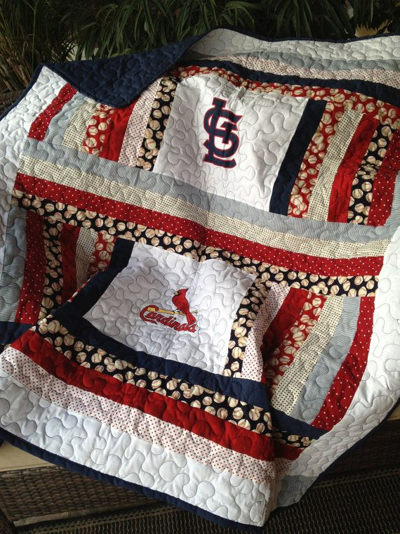 St Louis Cardinals baby quilt by sewsosweetdesigns on Etsy, $125.00