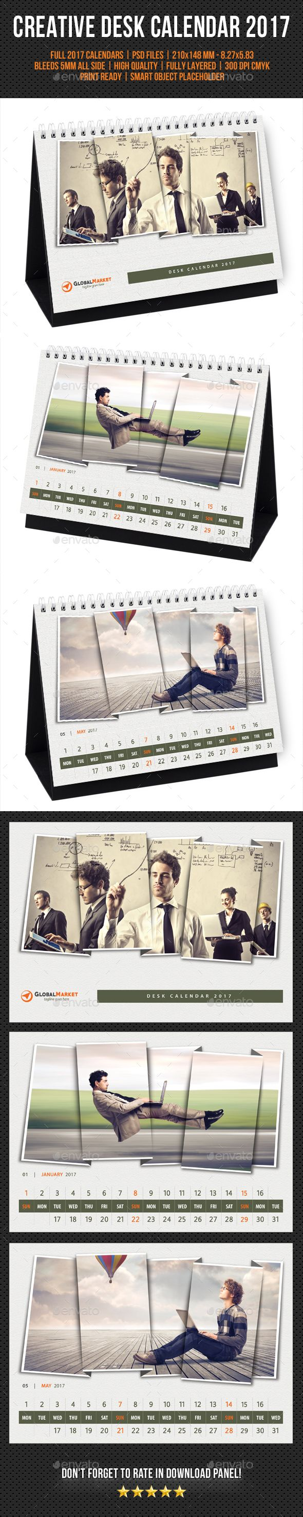 Creative Desk Calendar 2017 V24 - Calendars Stationery