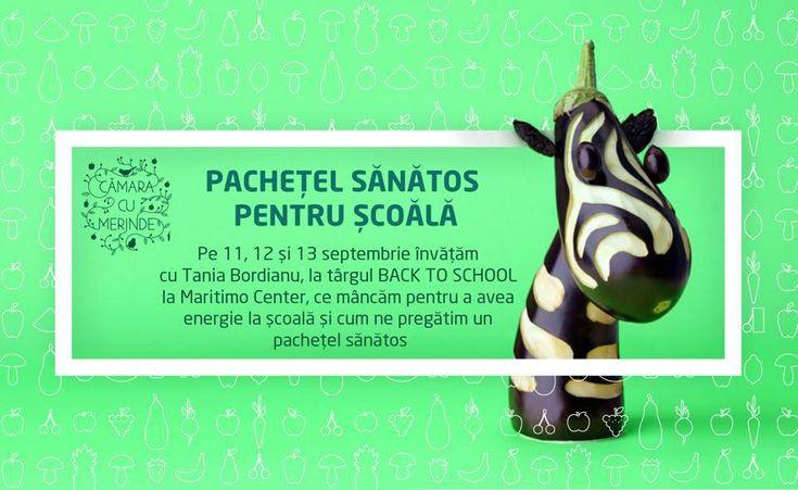Pachetel sanatos pentru scoala la Martimo Center cu Tania Bordianu #raw #vegan #backtoschool