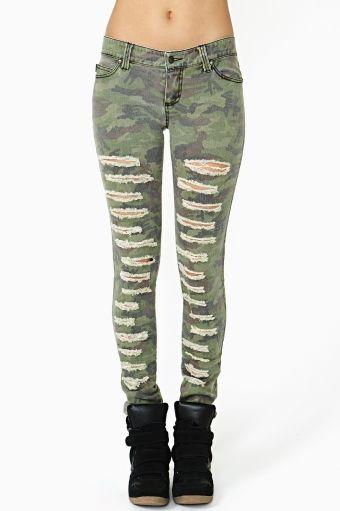 Battle Field Skinny Jeans by #TrippNYC