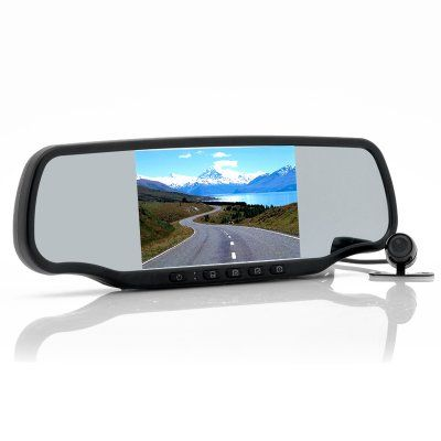 "$225 Car Rear View Mirror with Dashcam and Wireless Parking Camera ""Carmax"" - 5 Inch Screen, Speed Radar Detector, GPS, Bluetooth http://www.chinavasion.com/china/wholesale/Car_Video/Mirror_Monitors/Car_Rear_View_Mirror_with_Dashcam_and_Wireless_Parking_Camera_Carmax_-_5_Inch_Screen_Speed_Radar_Detector_GPS_Bluetooth/"