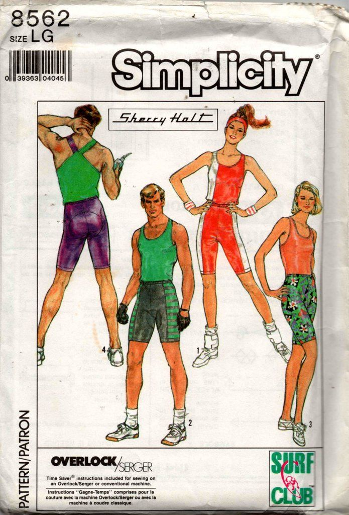 Simplicity 8562 Sherry Holt Unisex Mens Womens Tank Tops Gym Or