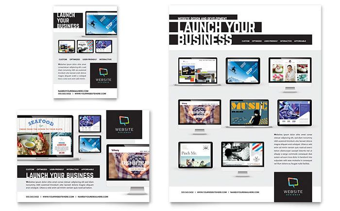 Promote your web design and development services with print collateral that displays  a stunning portfolio of design work.