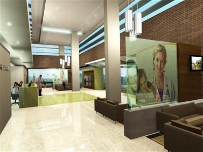 healthcare lobby designs   ... San Vicente de Paul's, Colombia, welcoming reception lobby