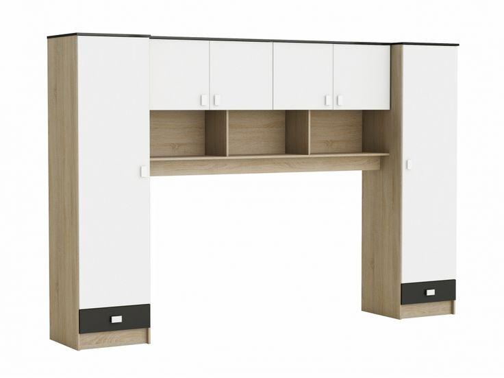 HEIDI Garderobskombination 307 Vit/Ek/Svart i gruppen Inomhus / Förvaring / Garderober hos Furniturebox (100-56-126234)