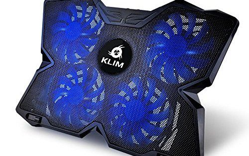 KLIM Wind Refroidisseur PC portable – Le Plus Puissant – Refroidissement Rapide – 4 Ventilateurs Support Ventilé Gamer Gaming Plaque (Bleu)…