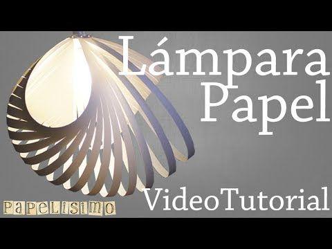 Lámpara de Papel - YouTube