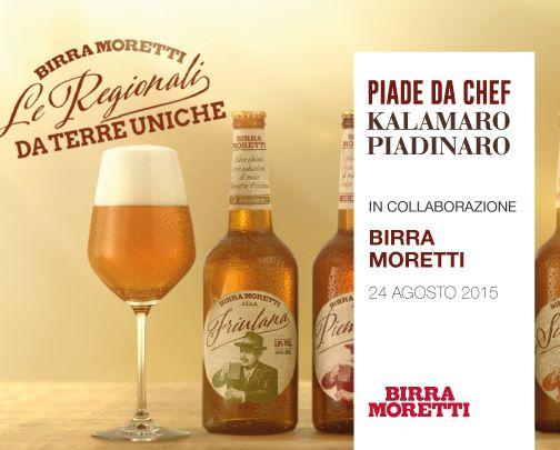 Piade da Chef in collaborazione con Birra Moretti  #piadedachef #kalamaropiadinaro #birramoretti