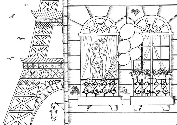 barbie paris coloring pages - photo#10