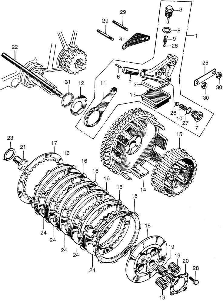 clutch oil pump  fits  1968 honda cl175