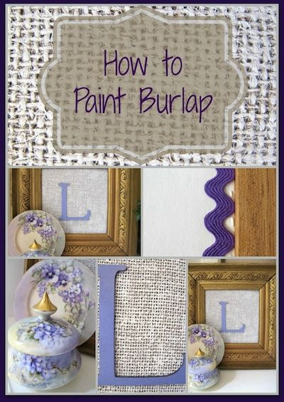 Learn how to paint burlap and create a wonderfully textured piece of wall art for a few dollars.