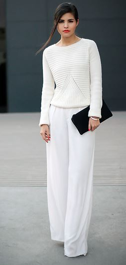 Zara Sweater | Trousers by Phillip Lim.