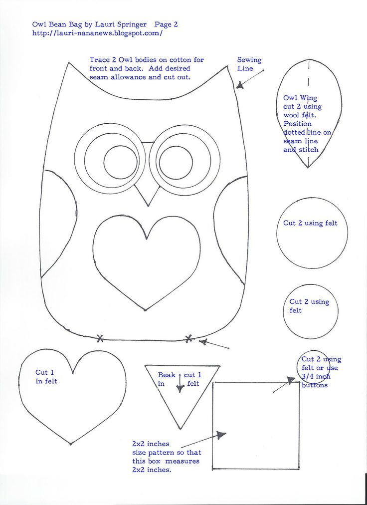Free Owl Pattern Template | liked this pattern you may also enjoy my tutorial and pattern template ...
