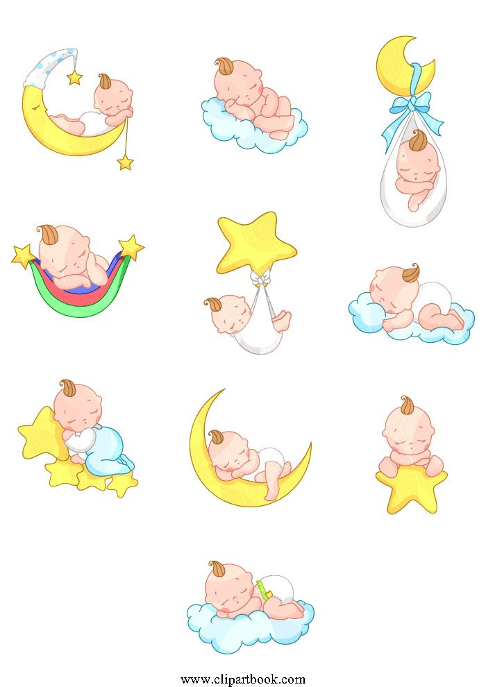 LE - Up in the air Sleeping Baby Boyfree vector clipart designs for digitizers textile and fashion designers