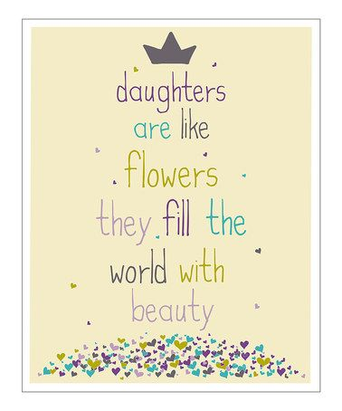 Take a look at this Purple 'Daughters Are Like Flowers' Giclée Print by Finny and Zook on #zulily today!