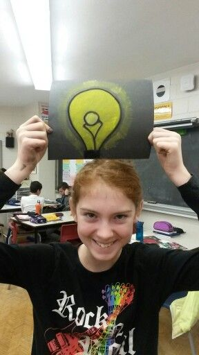 A Frank Ryan Visual Art student shows us that she's THINKING!