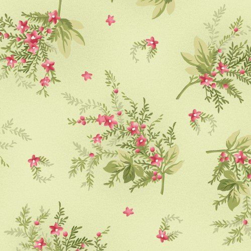 Heather Green Sprigs designed by Jennifer Bosworth for Maywood Studio, fabric shops, fabric stores, quilt shops