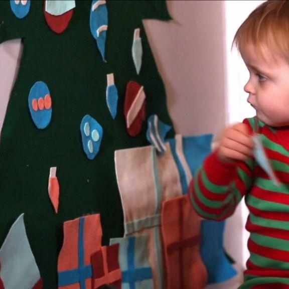 DIY Toddler Friendly Felt Tree