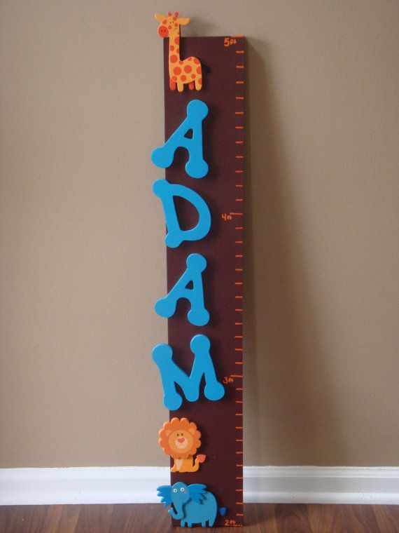 Custom Wood Growth Chart 2'  5' by GrowBabyGrowthCharts on Etsy, $45.00