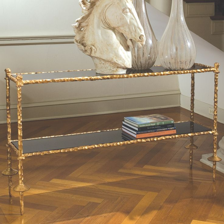 Perfect Global Views Furniture Chiseled Gold Console Table @Layla Grayce