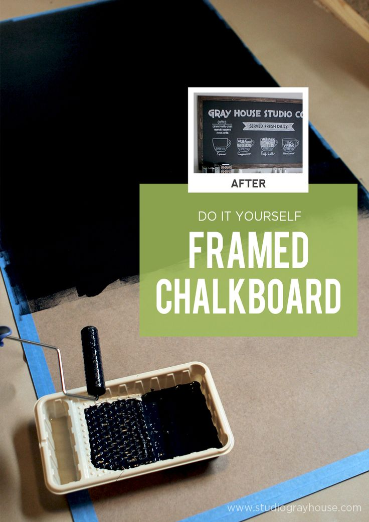 DIY large framed chalkboard. - How to make your own custom sized chalkboard with a frame.