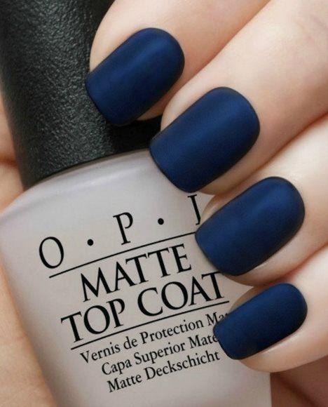 Matte Navy Manicure~OPI Russian Navy,OPI Matte Top Coat-11 Main Nail Design, Nail Art, Nail Salon, Irvine, Newport Beach
