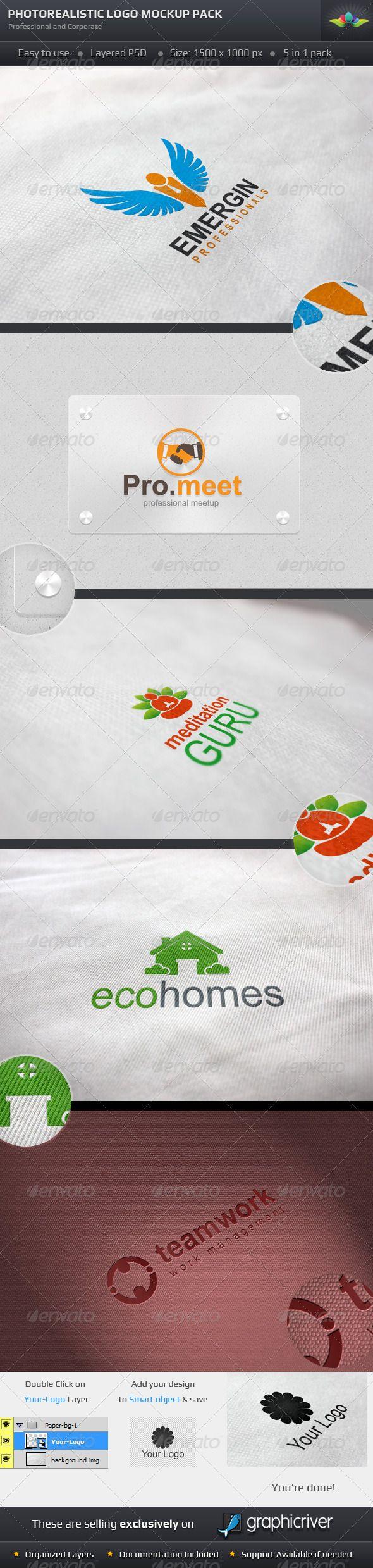 Photorealistic Logo Mockup Pack 37 best Graphics