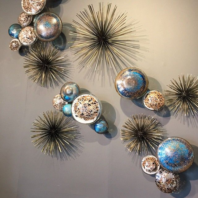 our boom wall sculptures and hand blown glass wall. Black Bedroom Furniture Sets. Home Design Ideas