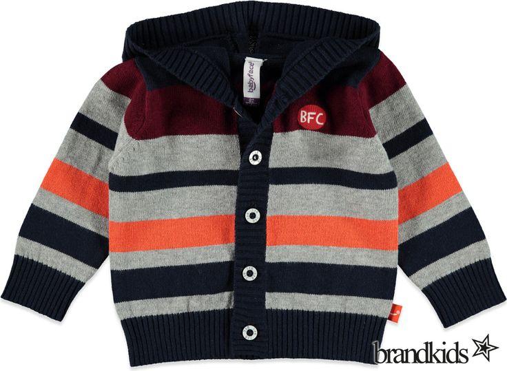 Babyface Vest donkerblauw - Jongens Baby Truien, Sweaters en Vesten €24,95