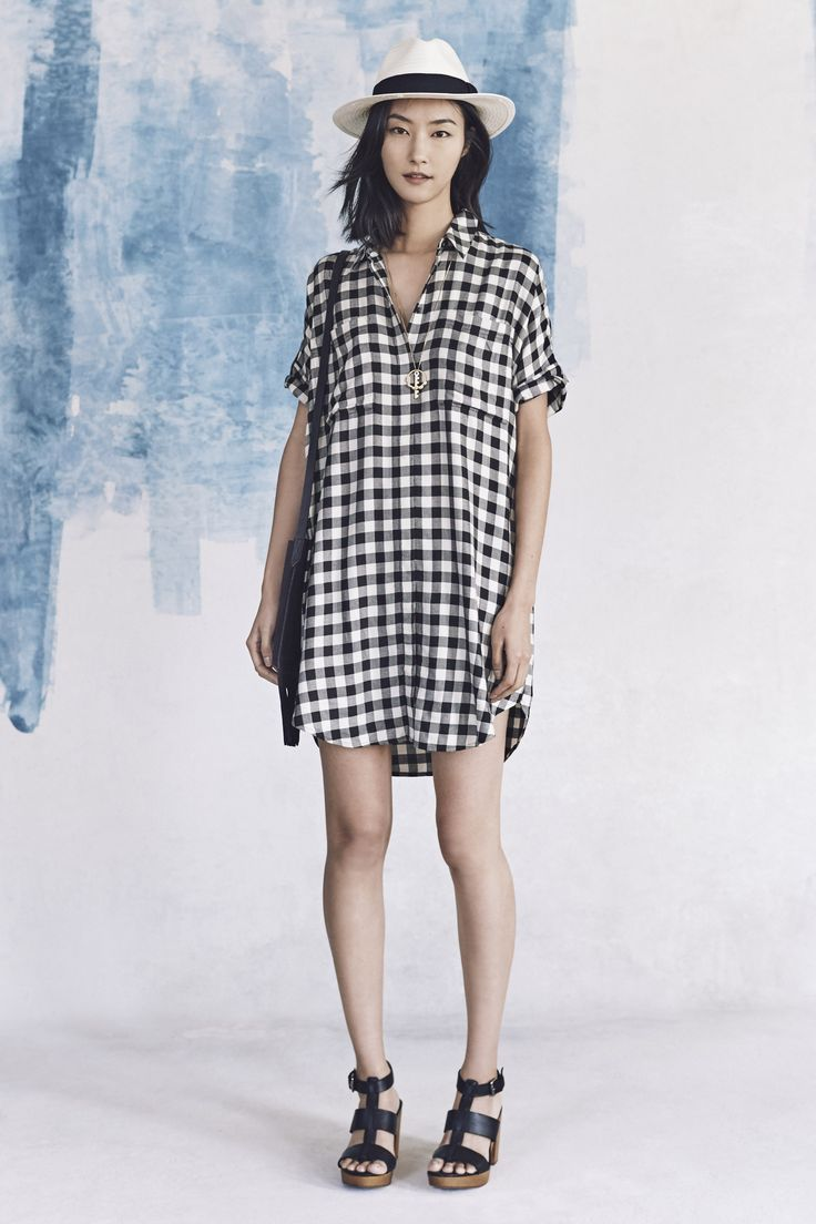 your sneak peek at madewell's spring 2016 collection: black and white  gingham dress, madewell