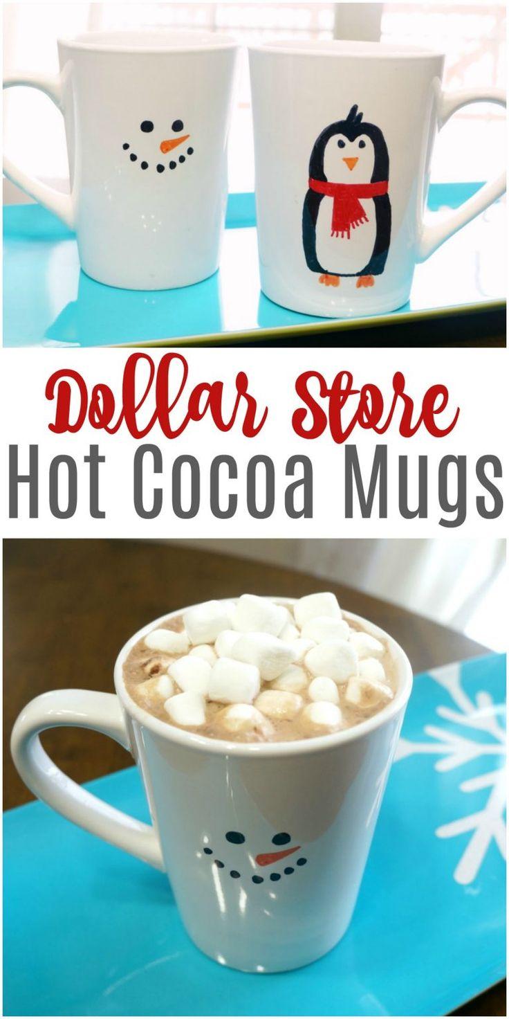 Dollar Store Cocoa Mugs