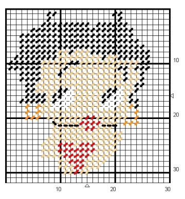 Tissue box cover betty boop plastic canvas pinterest courts at