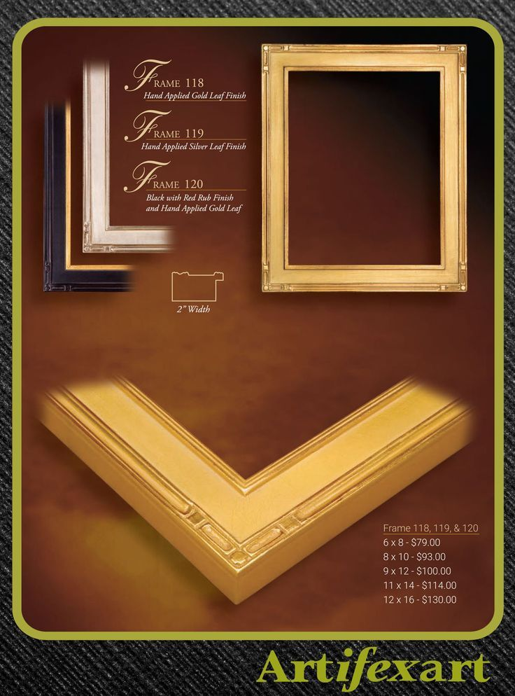 2 Wide Wood Frame Gold Leaf Or Black And Gold Hand Applied Leaf Art Deco Plenair Arts And Crafts What Ever Traditional Frames Frame Canvas Picture Frames