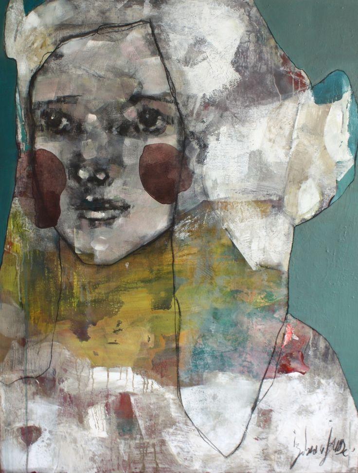 La Strada, acrylique sur toile, 116x89 cm, Izabeau Jousse