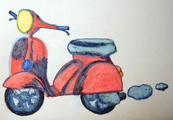 La mia Vespa (my motorcycle)