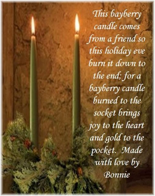 Soapsmith's Blog: True Bayberry Candles - A Colonial Tradition