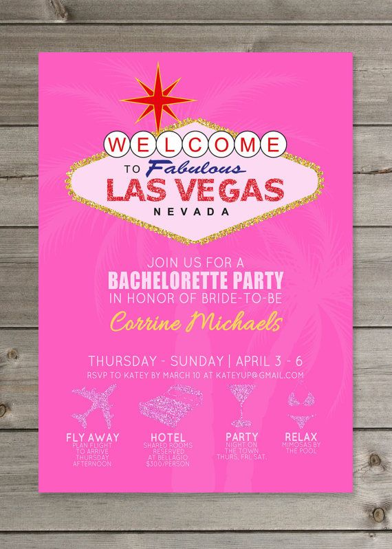 Las Vegas Bachelorette Party Glitter by GaiaDesignStudios on Etsy