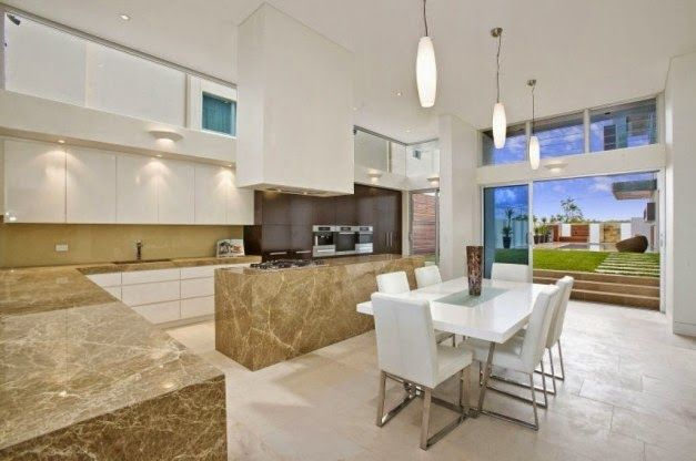 Desain Interior Dapur dan Ruang Makan Terbuka
