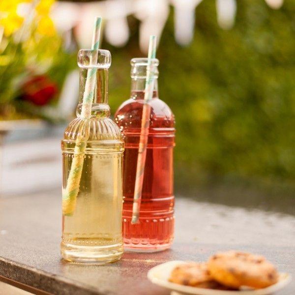 Florist Deco – kleine Glasflaschen 2er Set – a unique product by vanharte on DaWanda