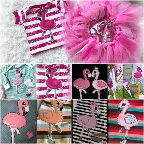 Applikationsvorlage - Flamingo - Applizieren - Kinder - Baby - Tiere - TiLu Design